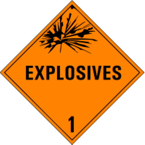 USDOT Symbol for Explosives