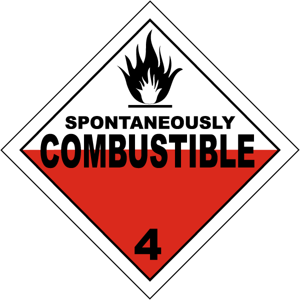 USDOT Symbol for Spontaneously Combustible