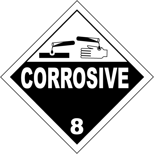 USDOT Symbol for Corrosive Substances