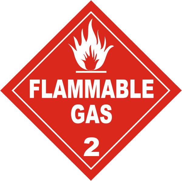 USDOT Flammable Gas Warning Symbol