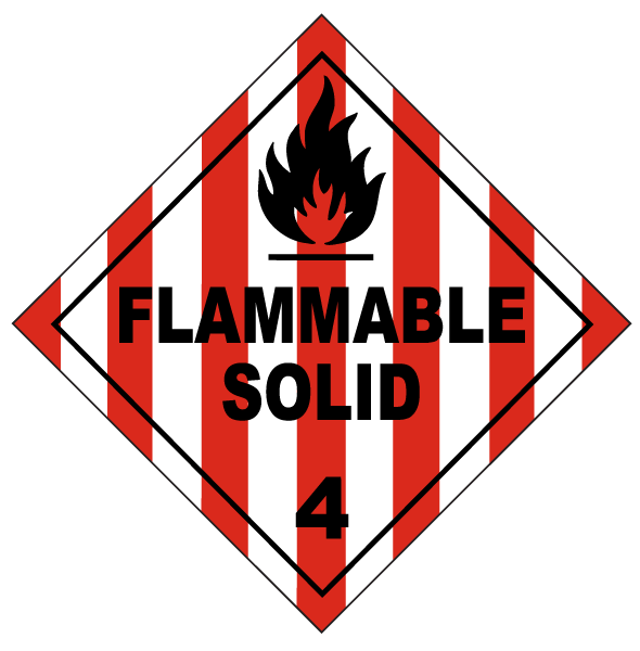 USDOT Symbol for Flammable Solid