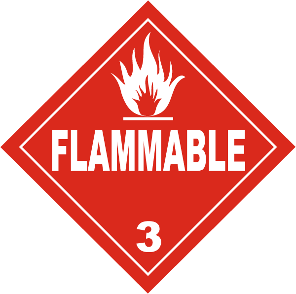 USDOT Symbol for Flammable Substance