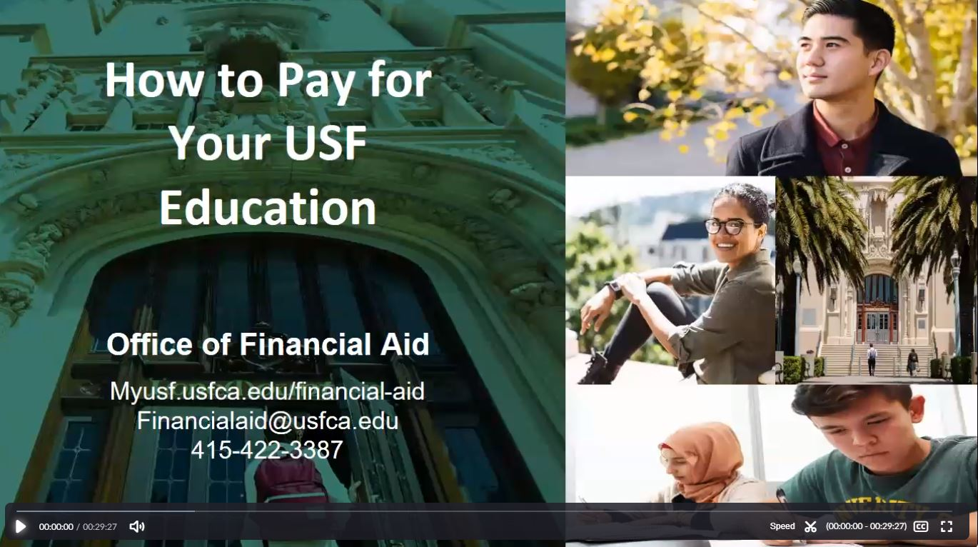 How to pay for your USF education webinar