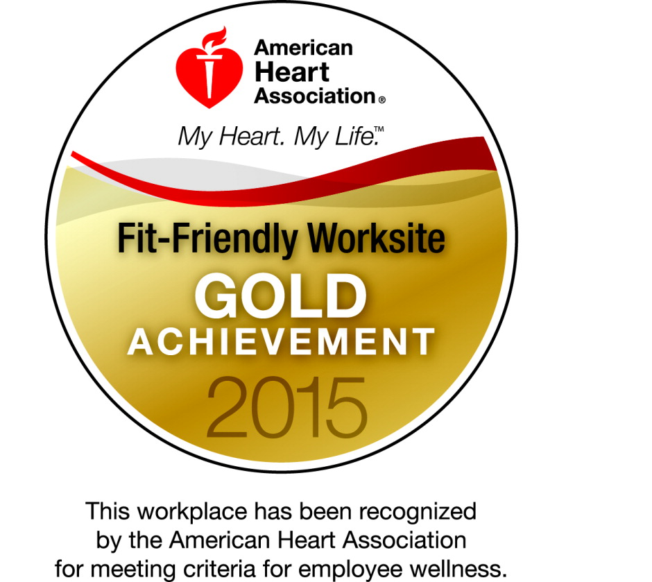 2015 American Heart Association Award Gold