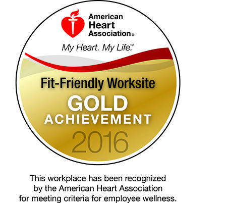 2016 American Heart Association Award Gold