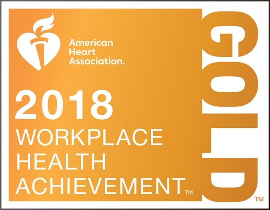 2018 American Heart Association Award Gold