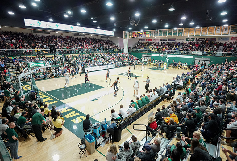 USF's War Memorial Gym during a men's basketball game