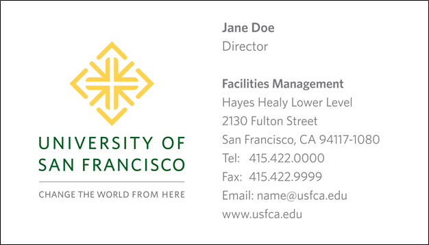 Business Cards Myusf