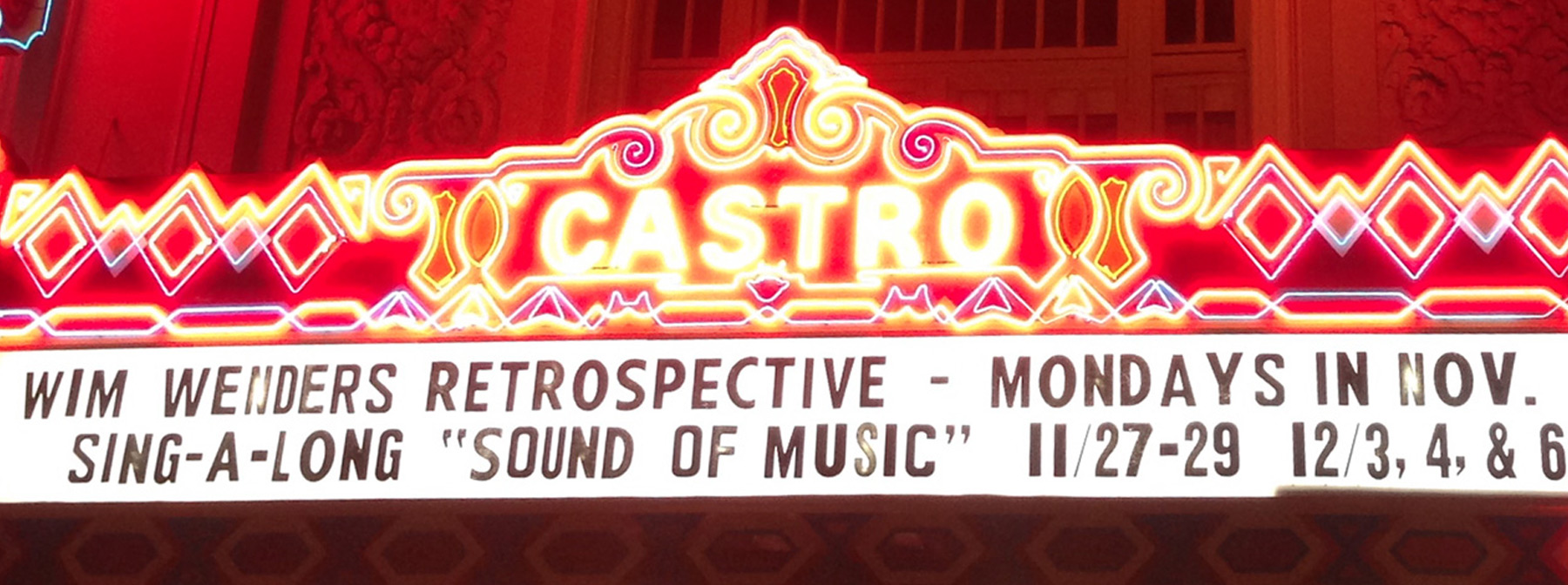 The marquee for the Castro Theater's annual German Film Festive