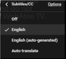 Video with English captions manually created
