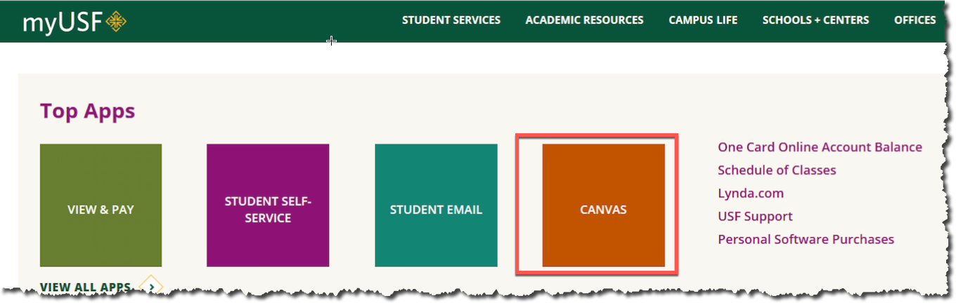 ets-finding-my-canvas-courses | myUSF