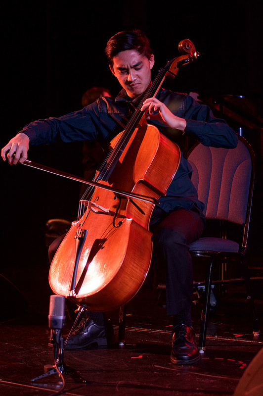 A cello player