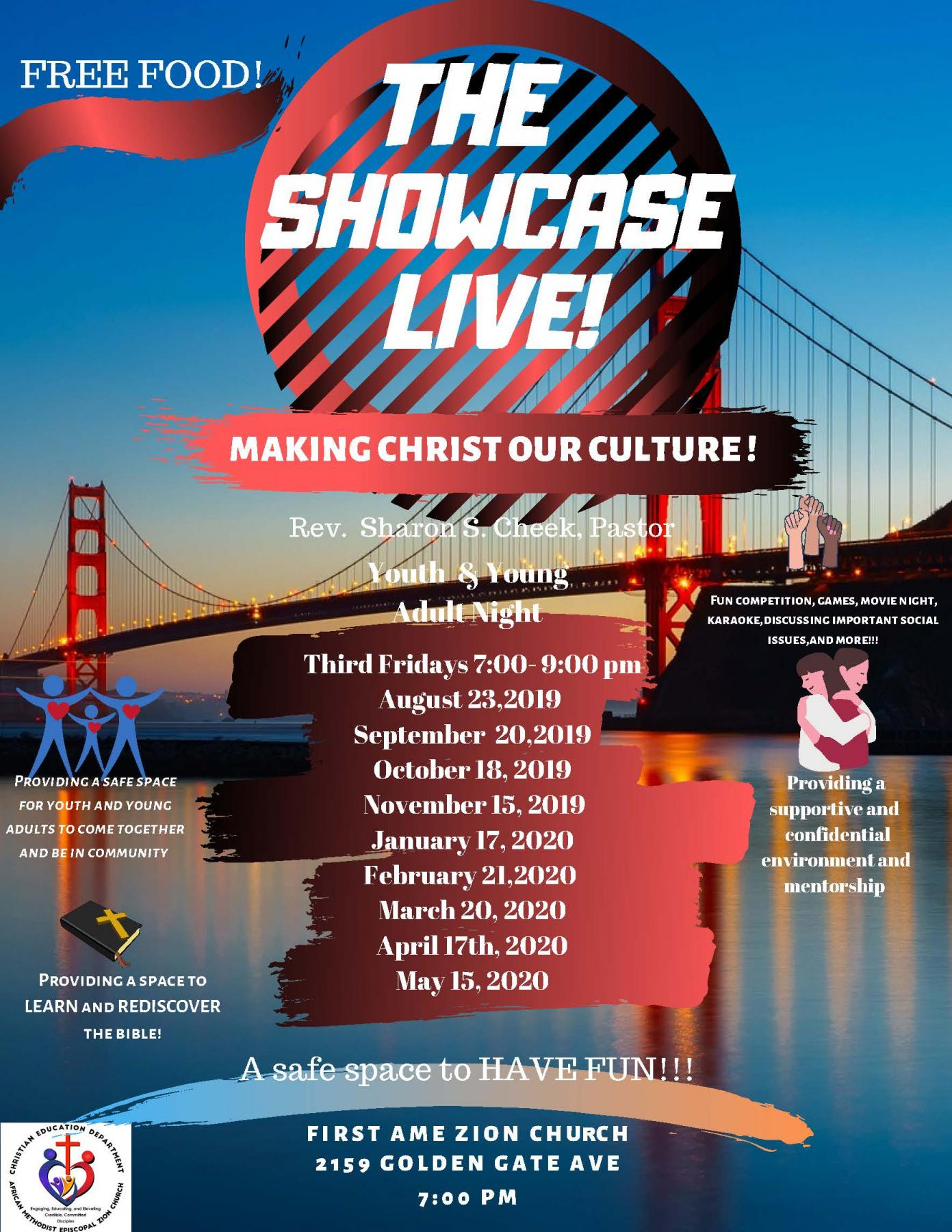 Showcase-Dates for the year
