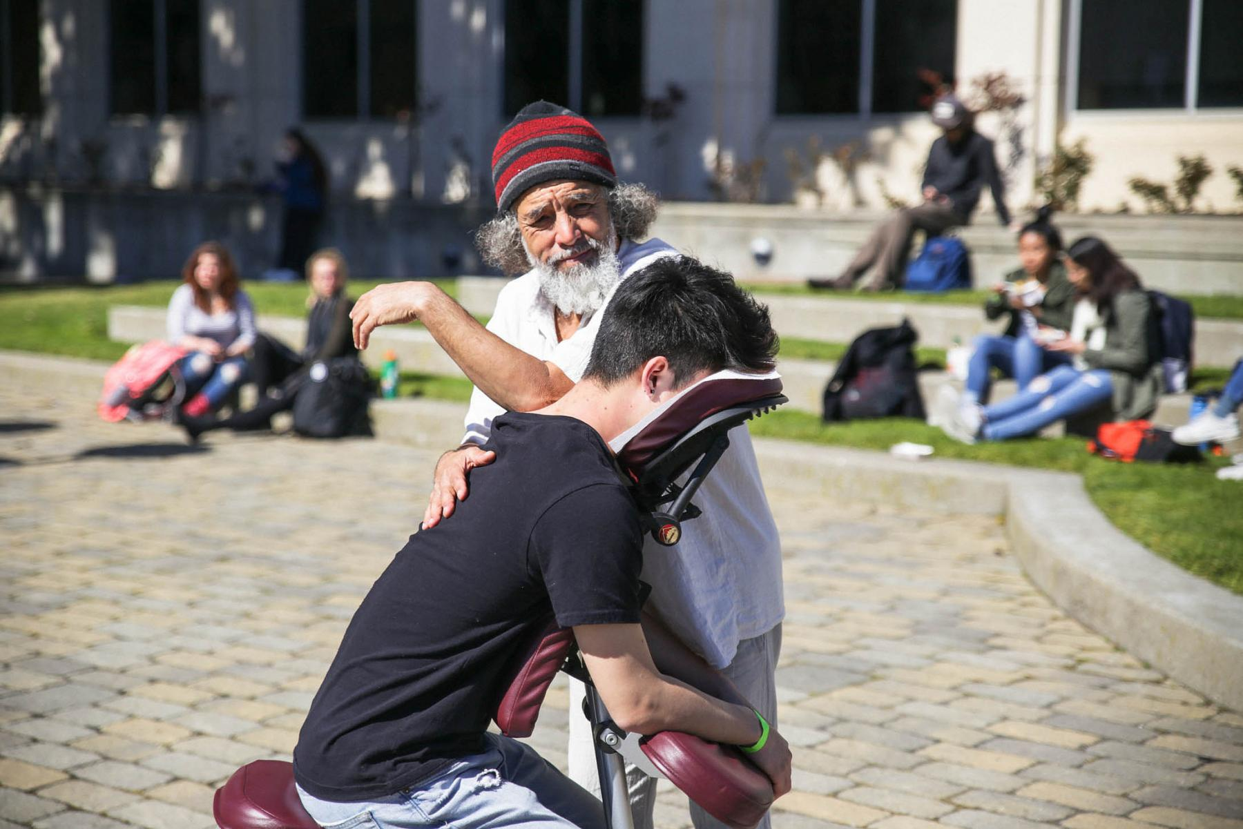 Student Getting a Massage