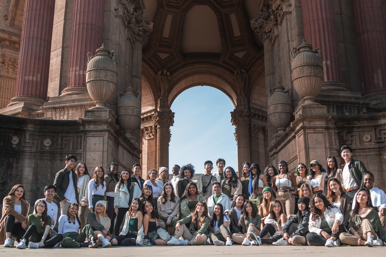 team photo at palace of fine arts