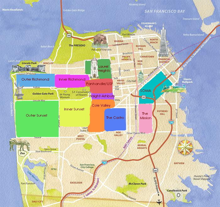 Sf Neighborhoods Map OCSS   SF Neighborhoods | myUSF Sf Neighborhoods Map