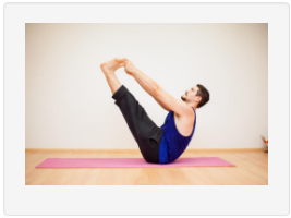 Person doing yoga