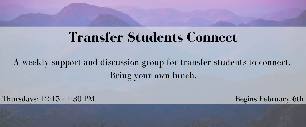 Transfer Students Connect