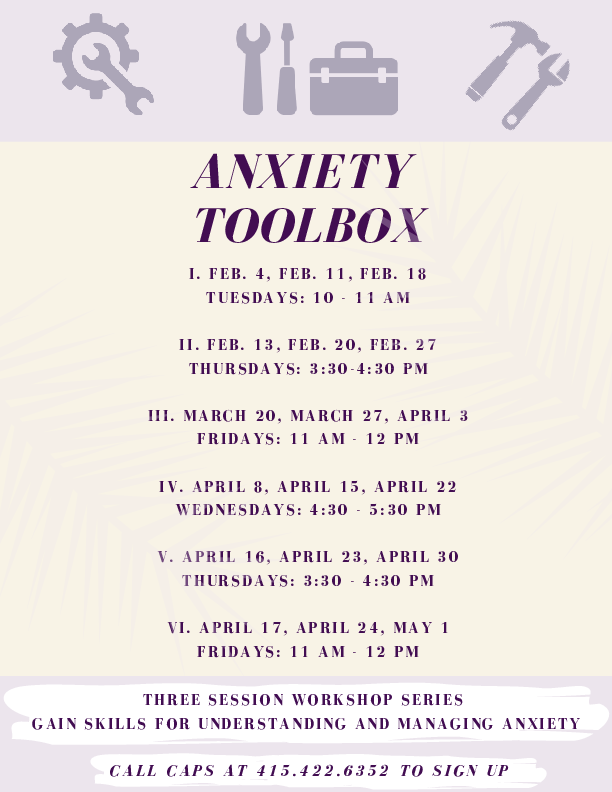 Anxiety Toolkit Times Spring 2020