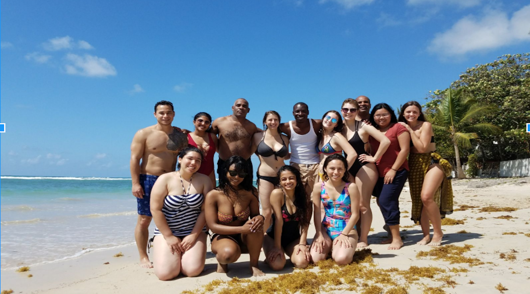 Dominican Republic Immersion Group in the Beach
