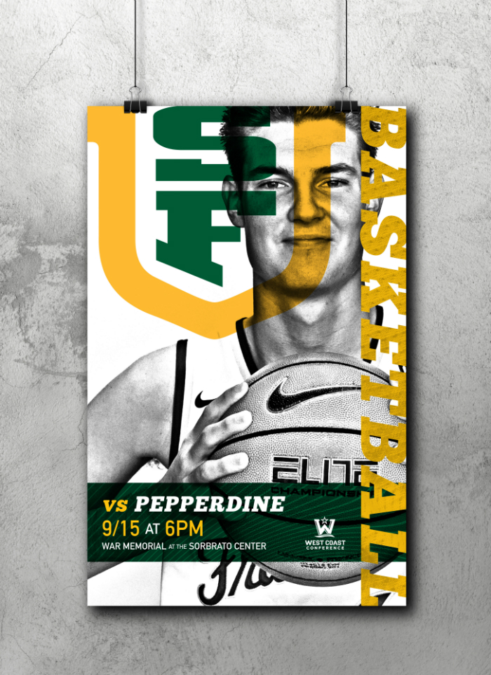 USF Basketball Game Day poster